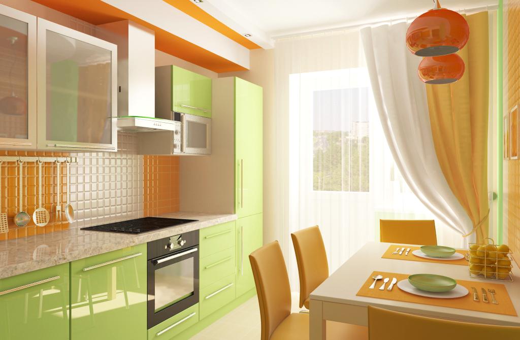 Кухня в зеленом цвете: 3 варианта сочетания цветов (+39 фото.