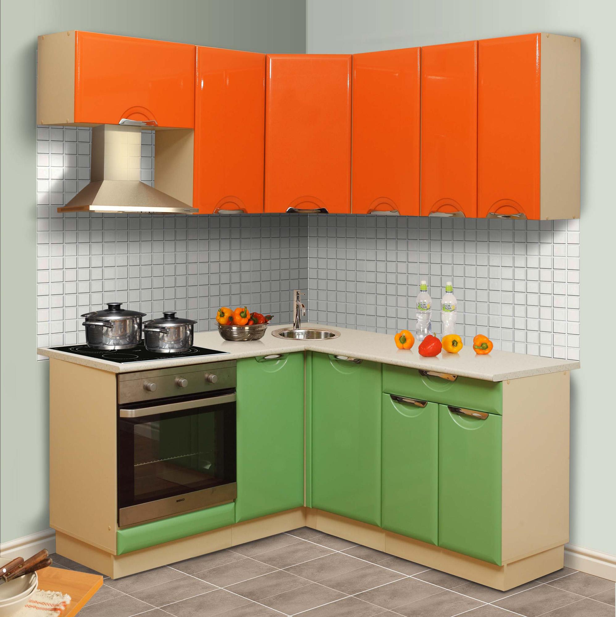 желто зеленая кухня фото