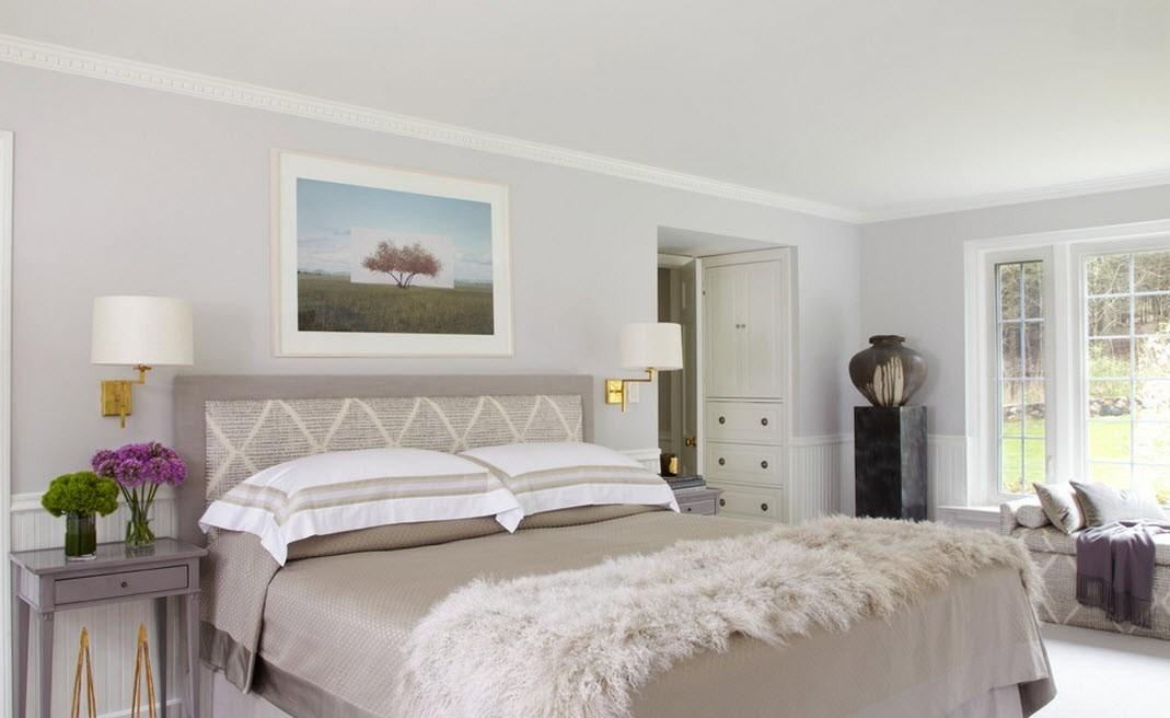 Дизайн спальни в светлых тонах 2015 современные идеи