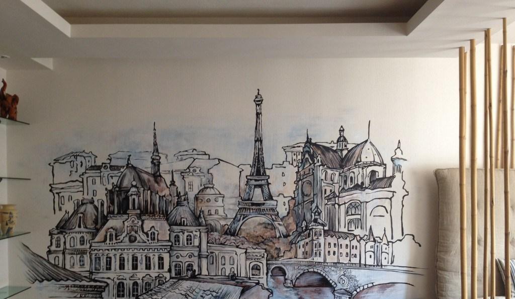 Рисунок города своими руками