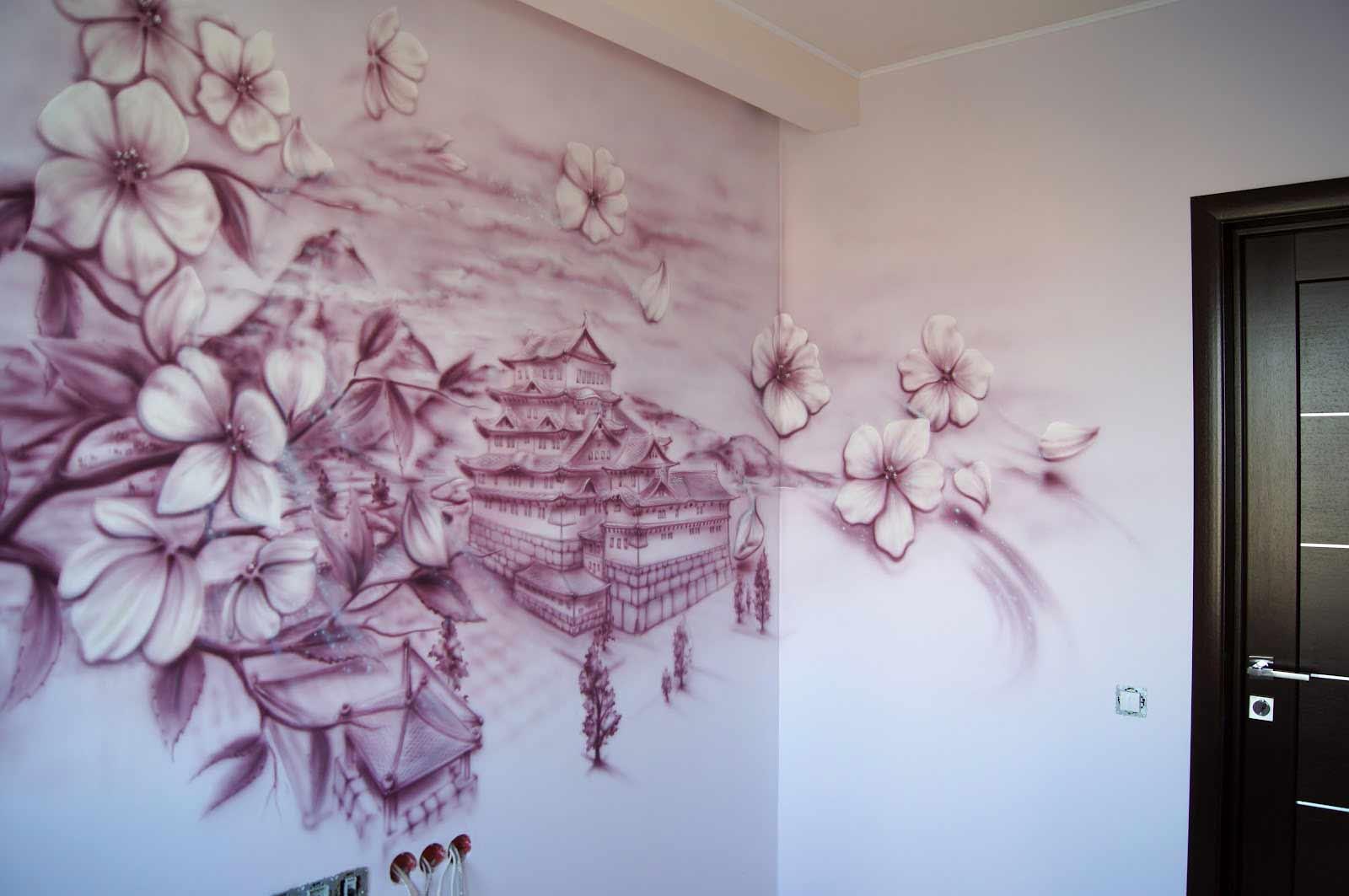 Картины нарисованные на стенах в квартире своими руками фото 863