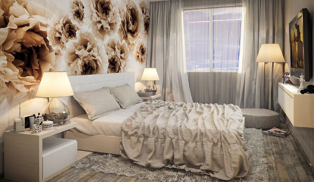 Спальня маленькая дизайн в светлых тонах