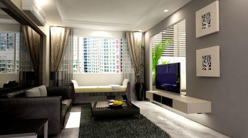 Дизайн двухкомнатной квартиры 85 квм, фото интерьера от