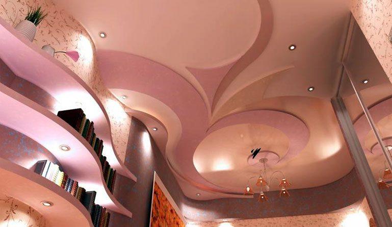 Фото дизайн красивых потолков из гипсокартона