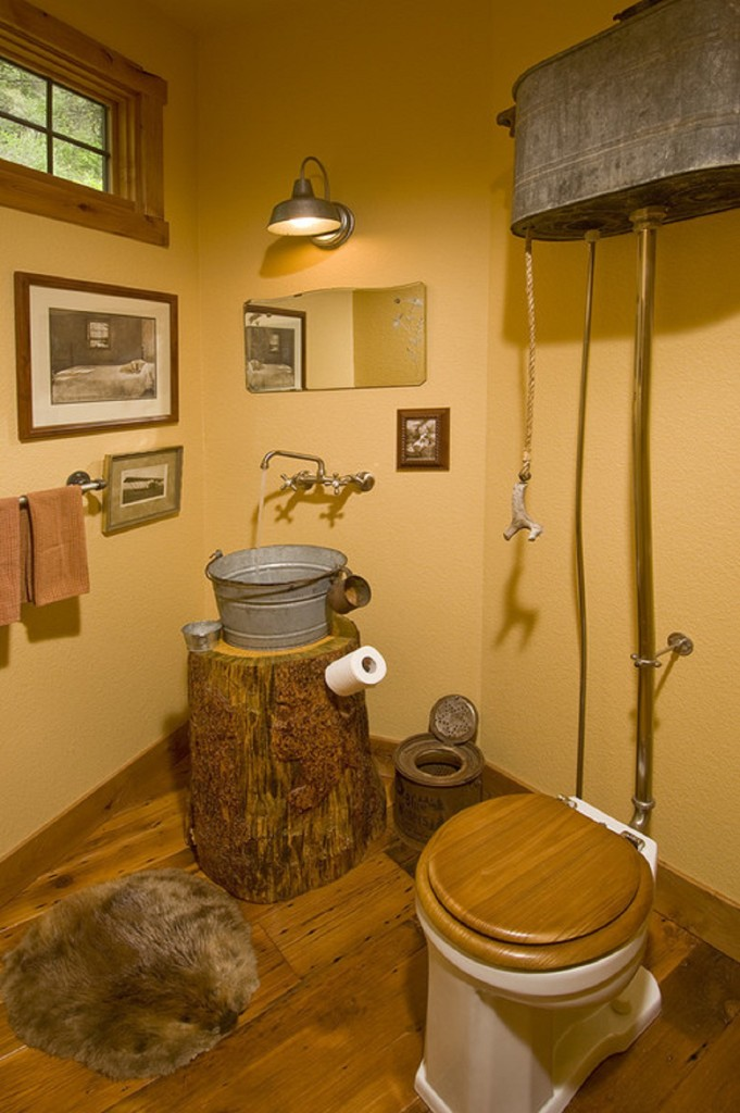Дачный туалет в доме фото