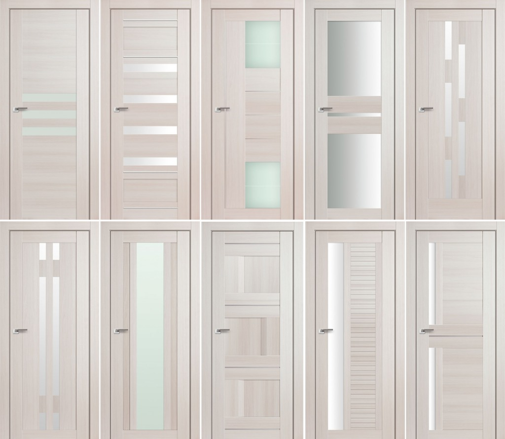 Межкомнатные двери Эш вайт мелинга