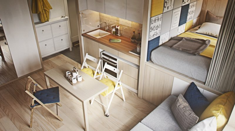кухонный шкаф и мойка