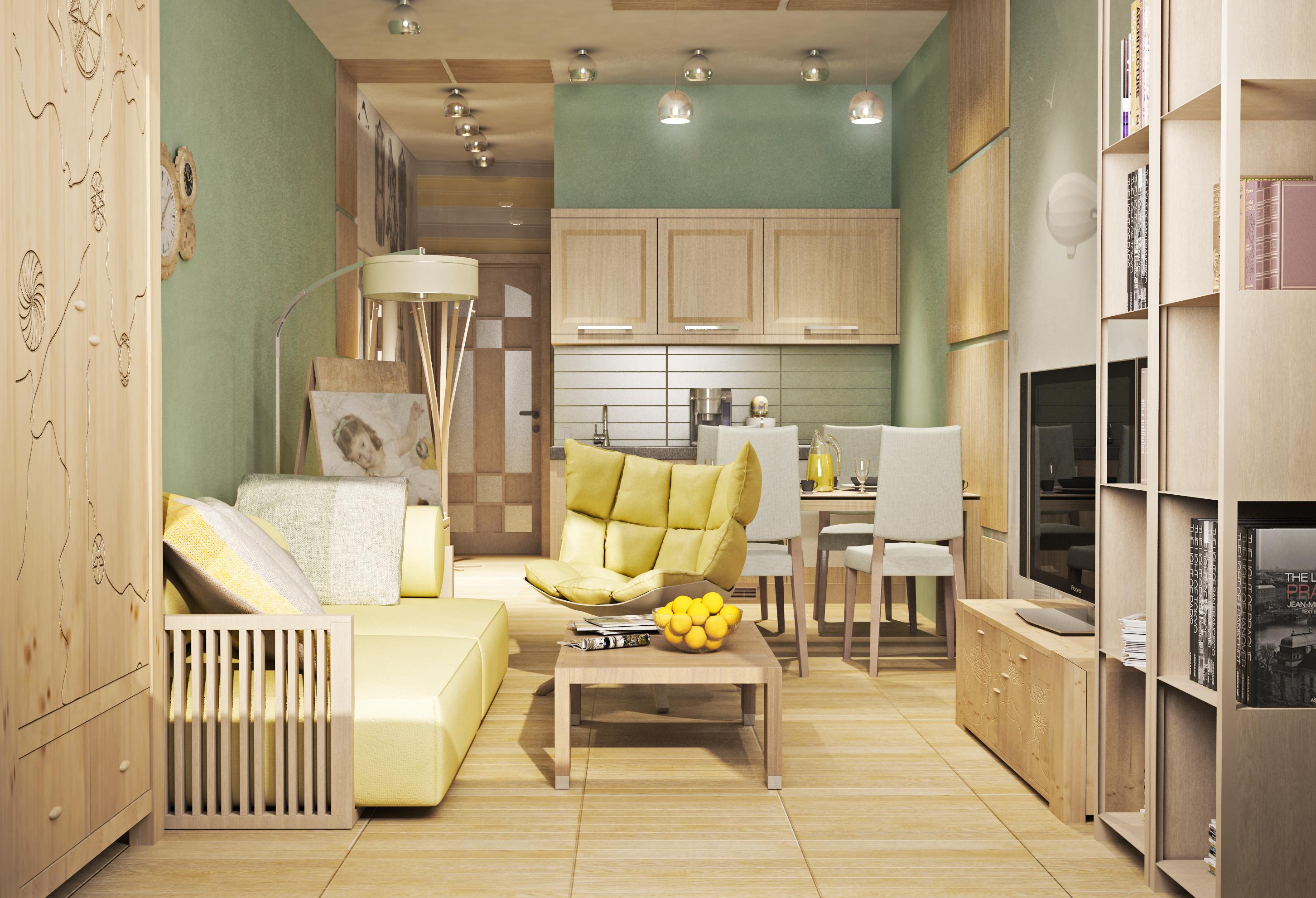 Интерьер фото маленькой квартиры 4