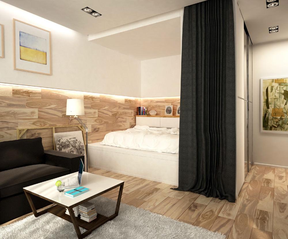 Дизайн однокомнатной квартиры 40 квм с нишей
