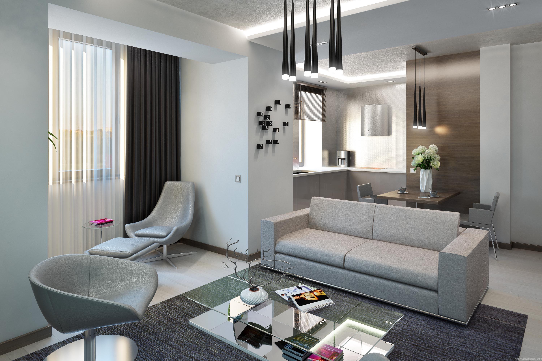 Дизайн однокомнатной квартиры-студии 30 квм