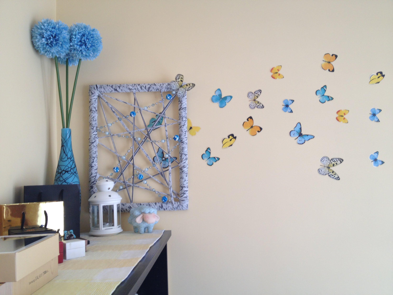 Как сделать бабочку для декора своими руками на стену фото 621