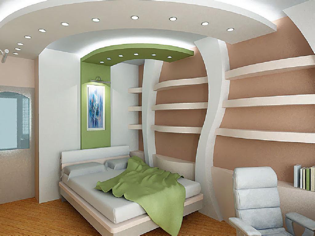 Как сделать спальню из гипсокартона 403