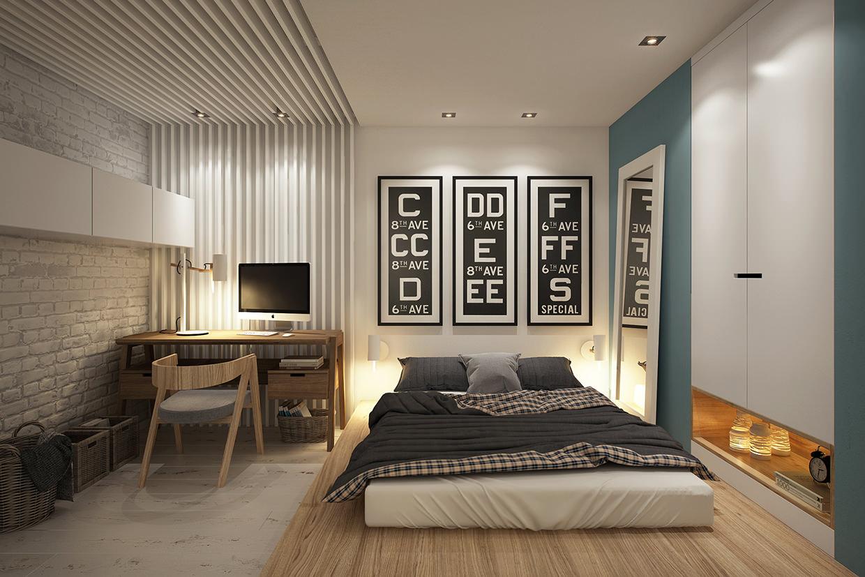 Спальня дизайн по зона
