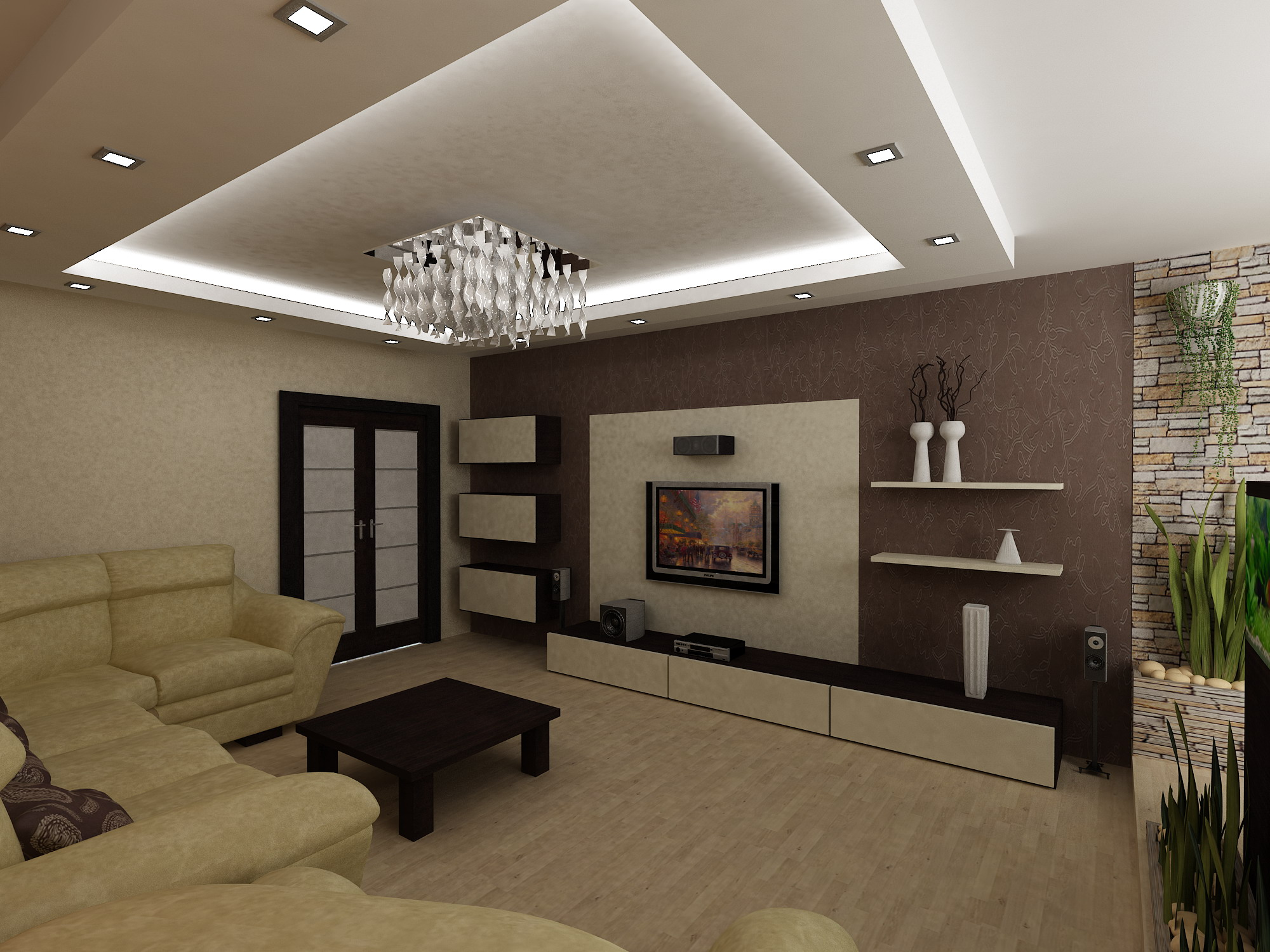 Дизайн зал 25 кв.м