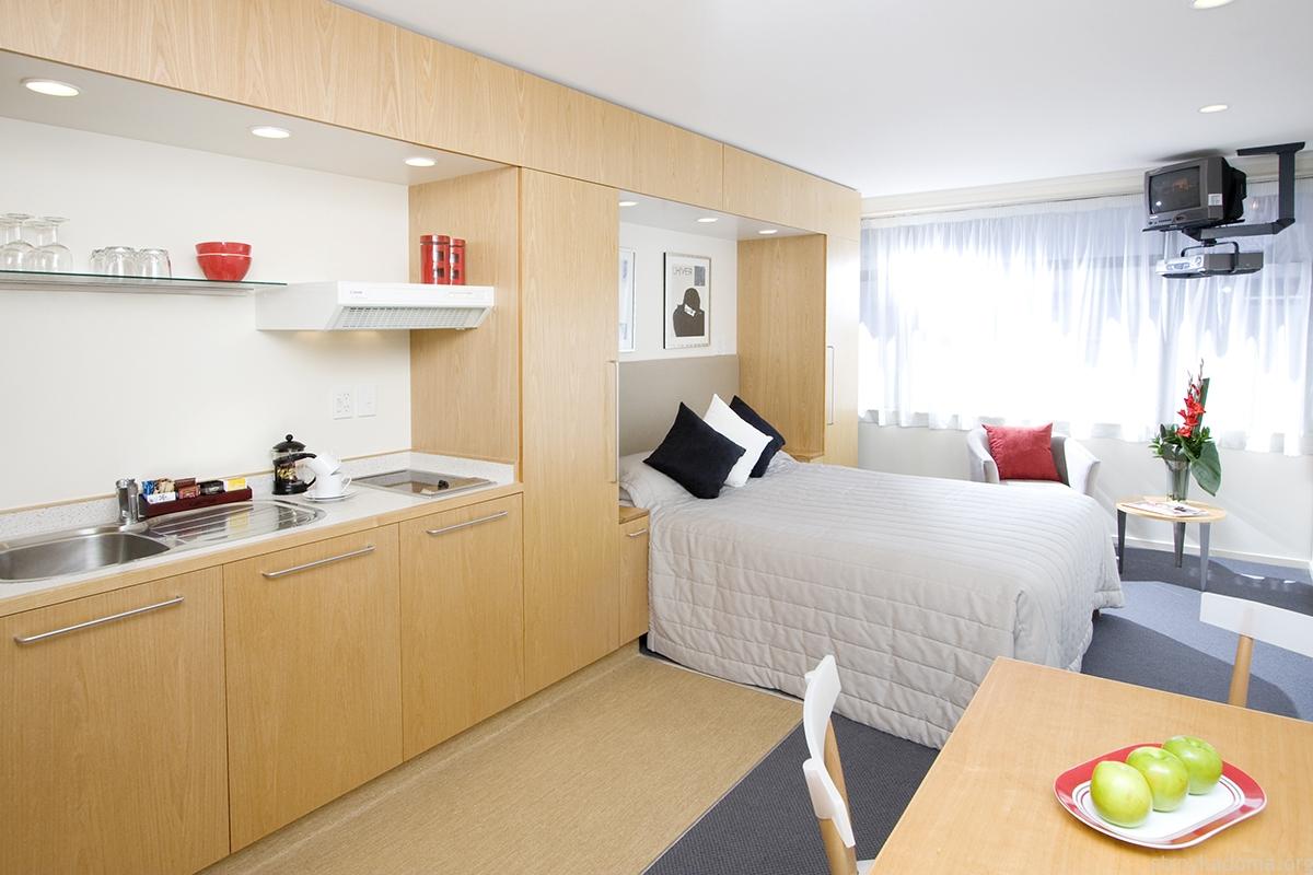 Возможно ли из кухни сделать спальню в однокомнатной комнате (фото) 89