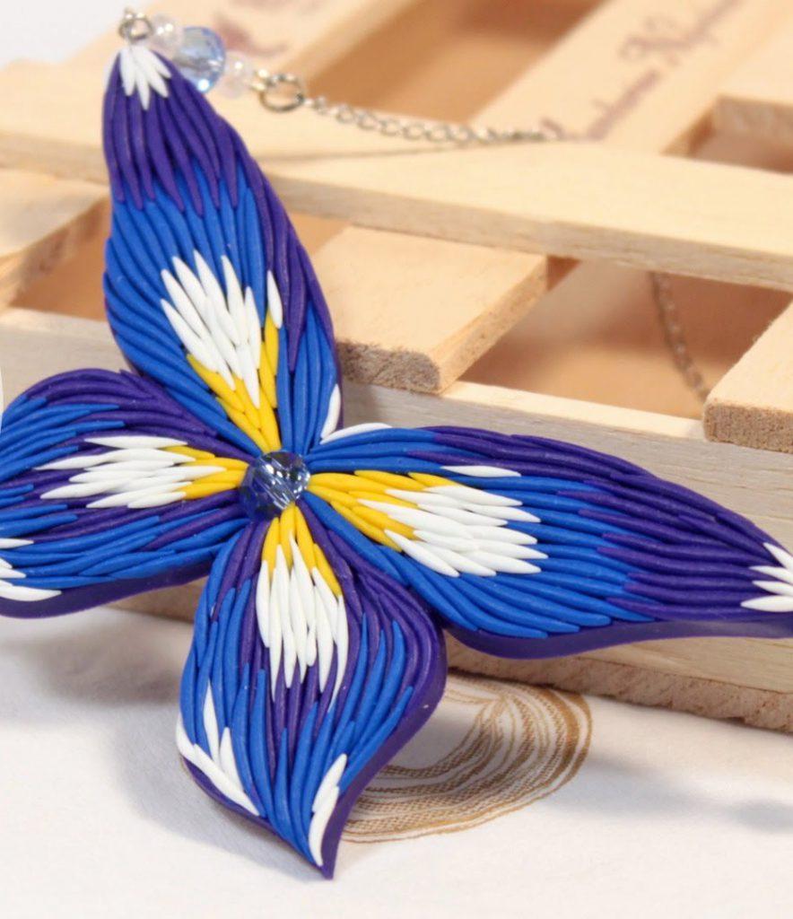 бабочка из глины