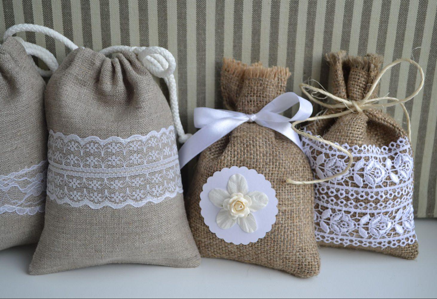 Подарочный новогодний мешочек из льна своими руками