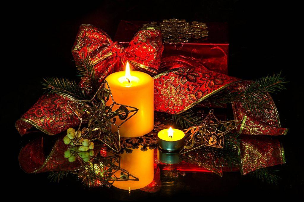 декорированная свеча