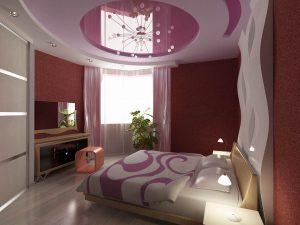 розовый потолок