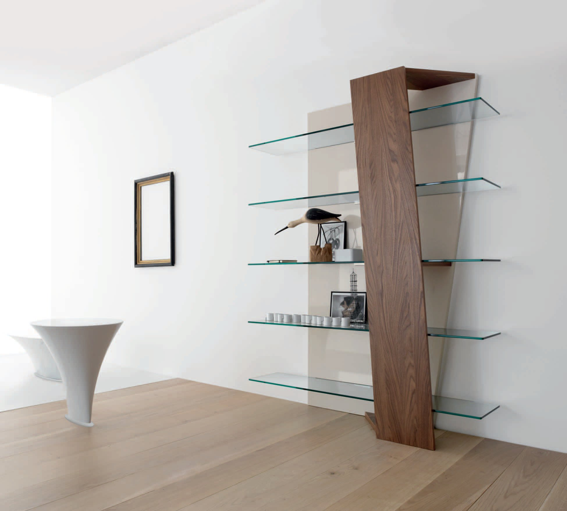 Современные интерьеры со стеллажами: удобство и стиль (44 фо.