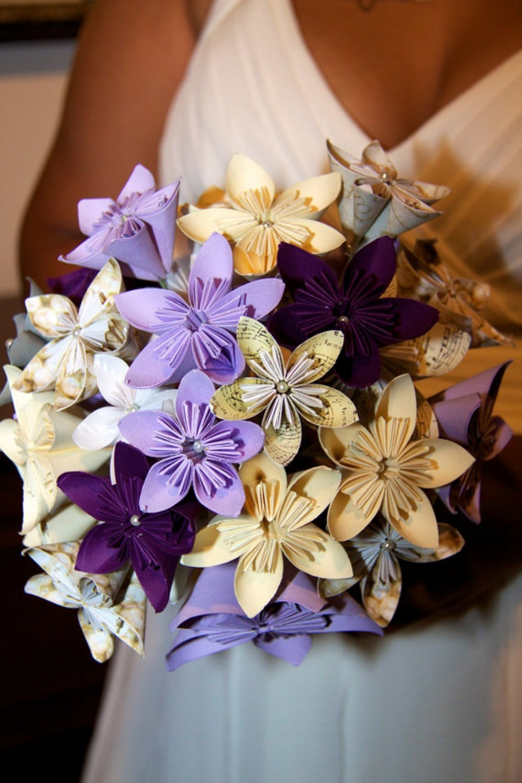 Свадебный цветы из бумаги своими руками
