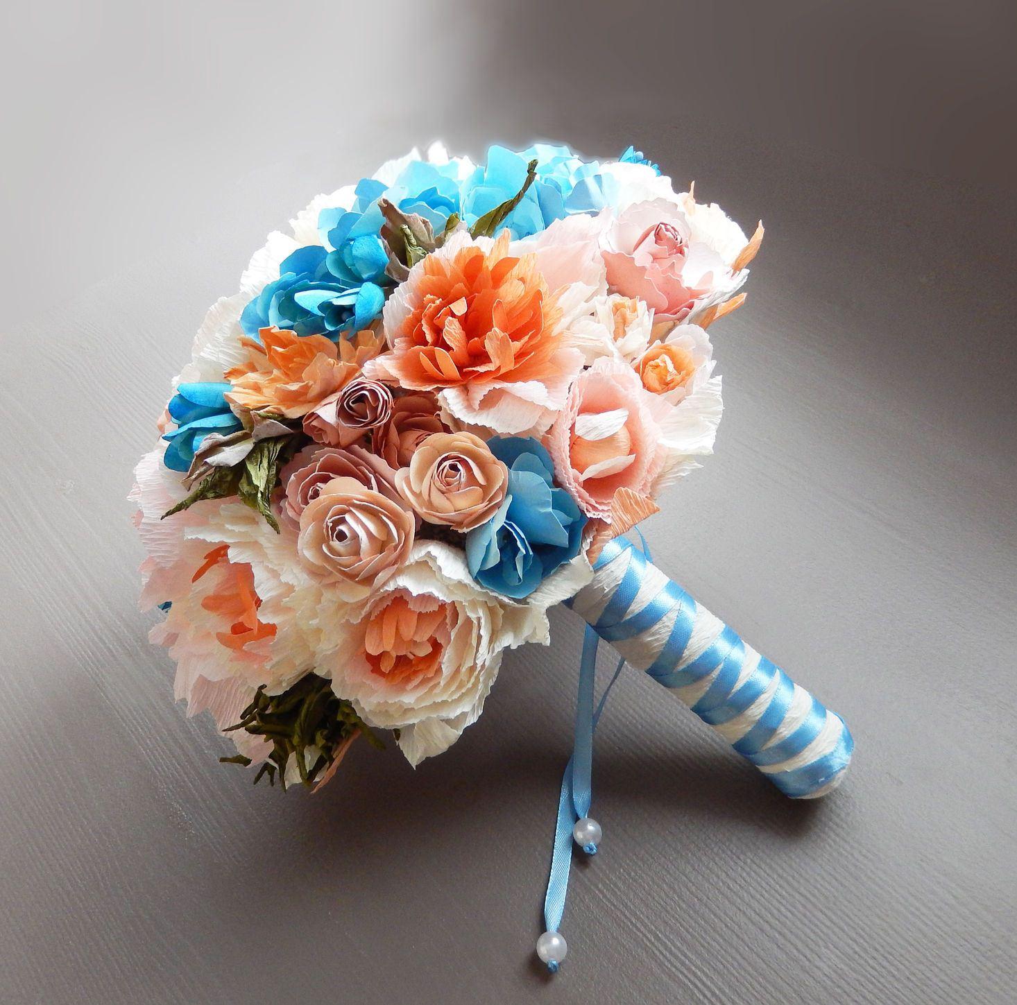 Бумажные цветы своими руками букет