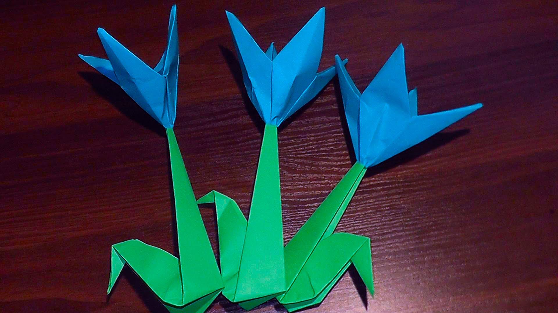 Как сделать подснежники из бумаги своими руками оригами