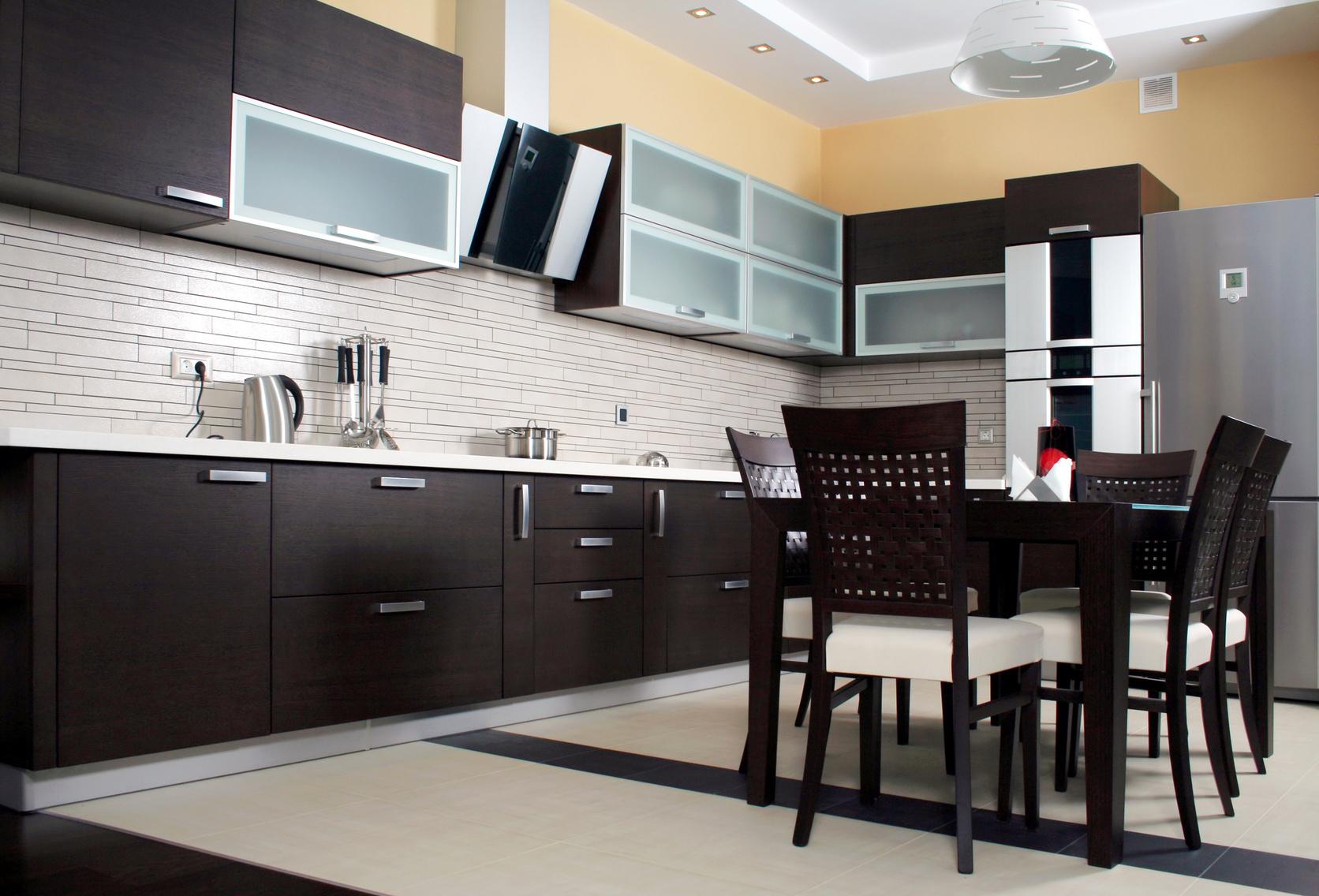 Кухня-венге сочетание цветов в интерьере фото