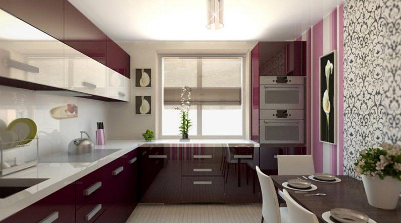 Дизайн кухни фото 12 кв 60