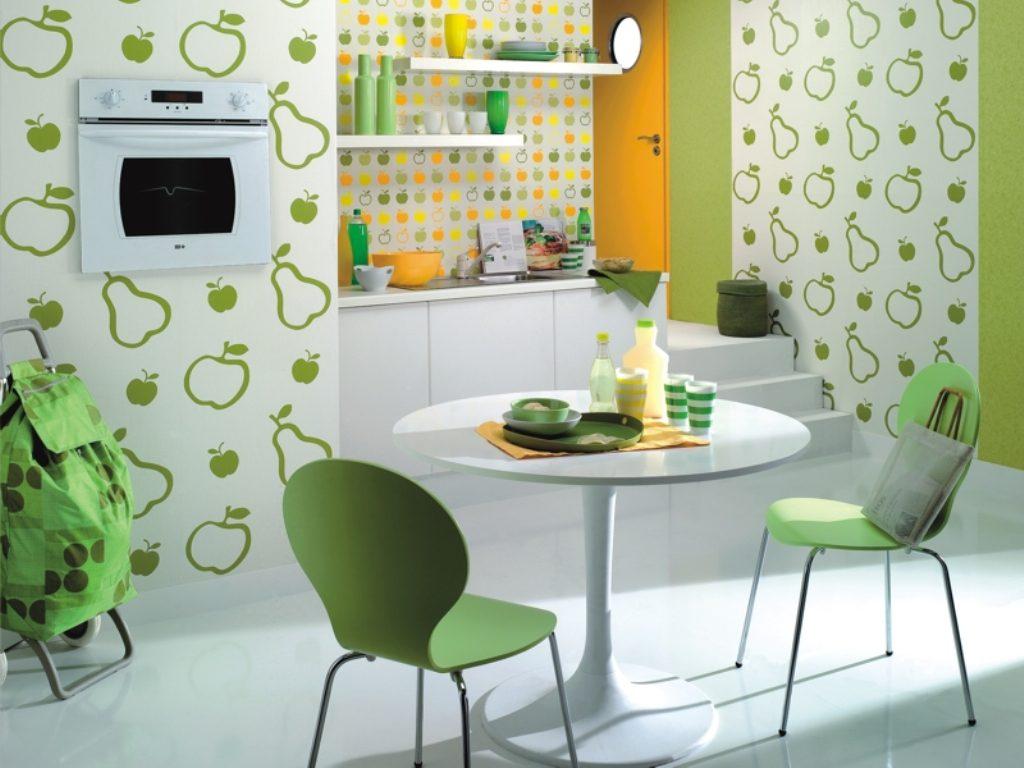 Самые лучшие обои для кухни: правила сочетания полотен разных цветов