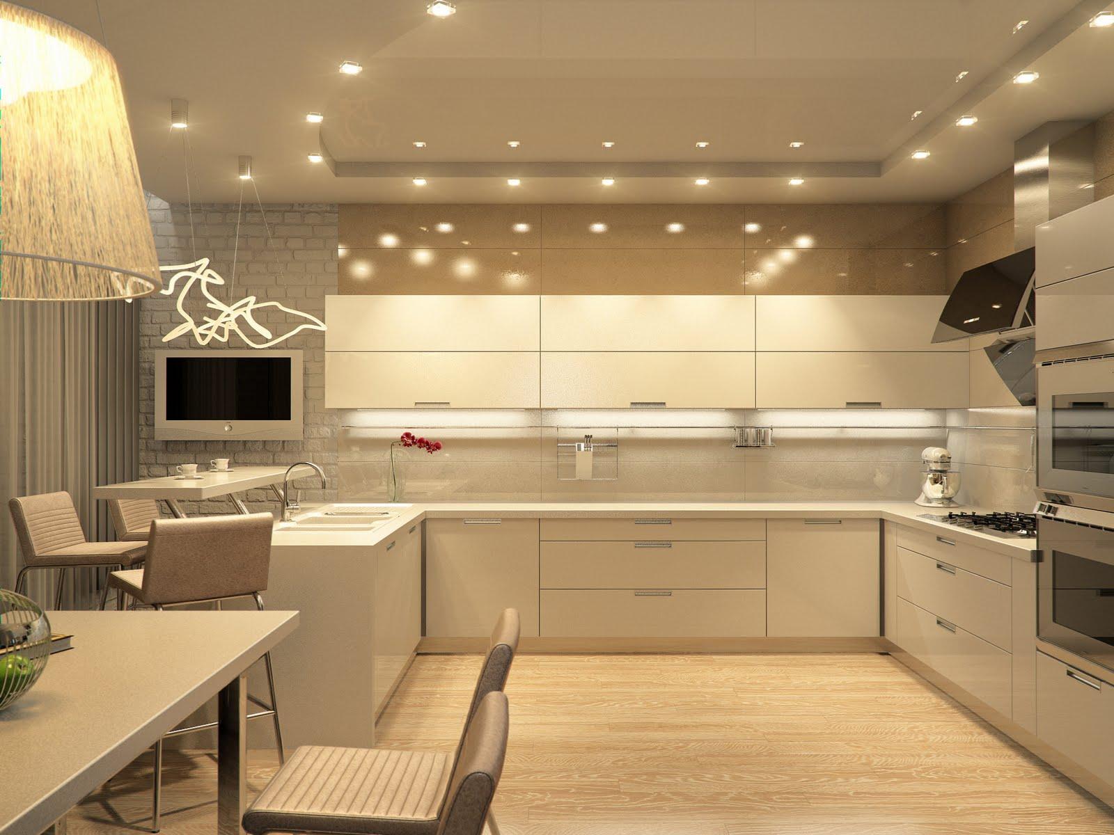 Кухня беж дизайн