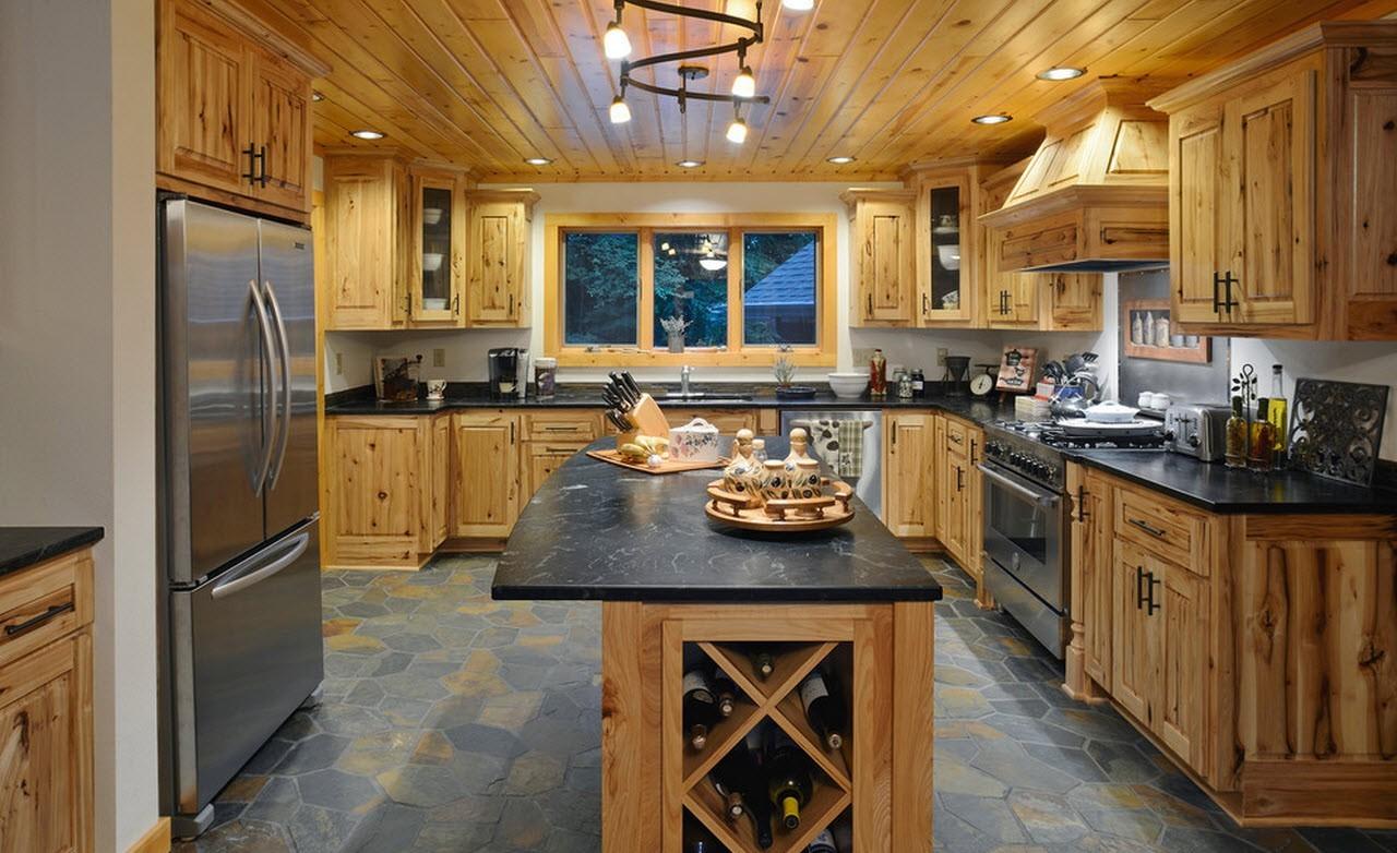 Отделка кухни в частном доме: подходящий дизайн и материалы 87