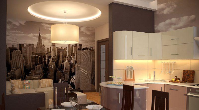 подсветка на кухонном шкафе