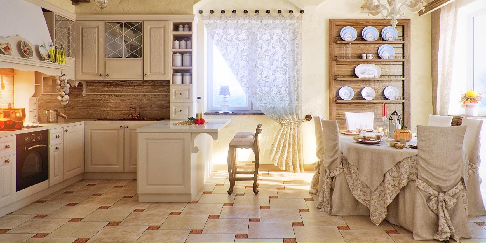 Интерьер кухни фото в стиле кантри