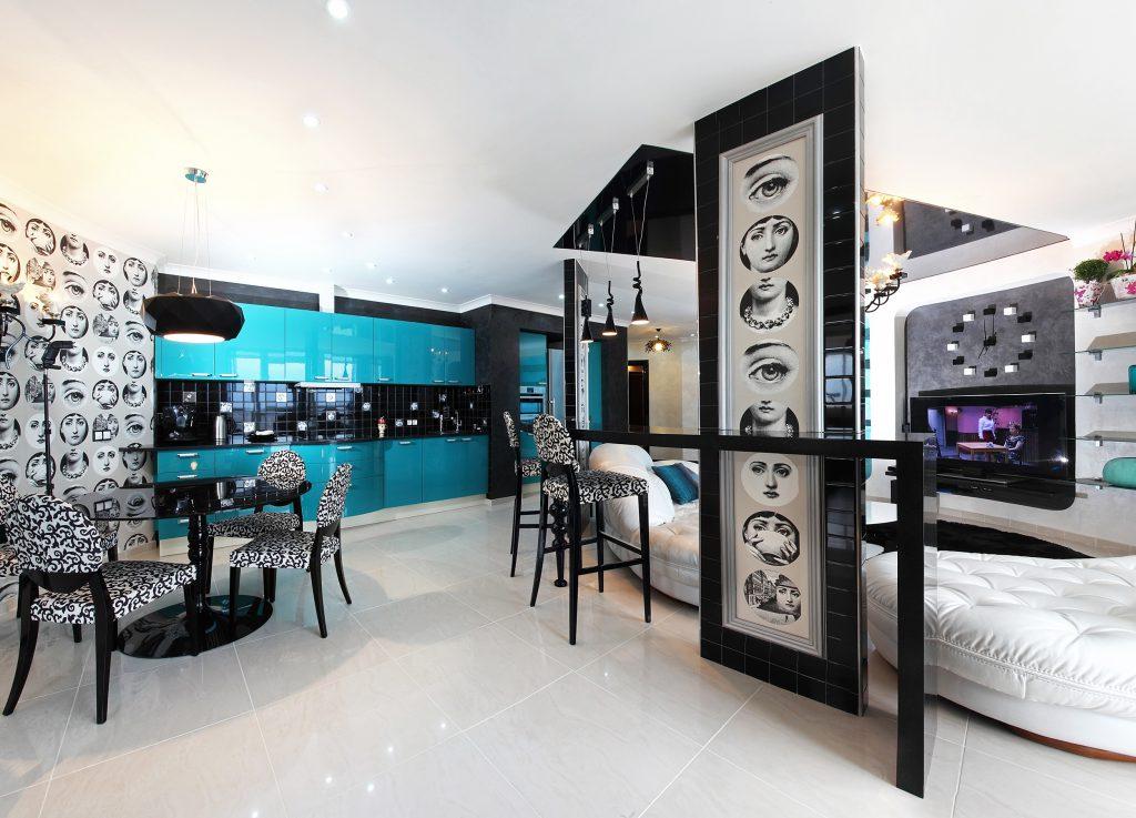 синяя мебель