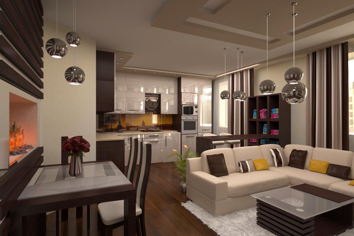 Идеи совмещенной кухни с гостиной в квартире фото