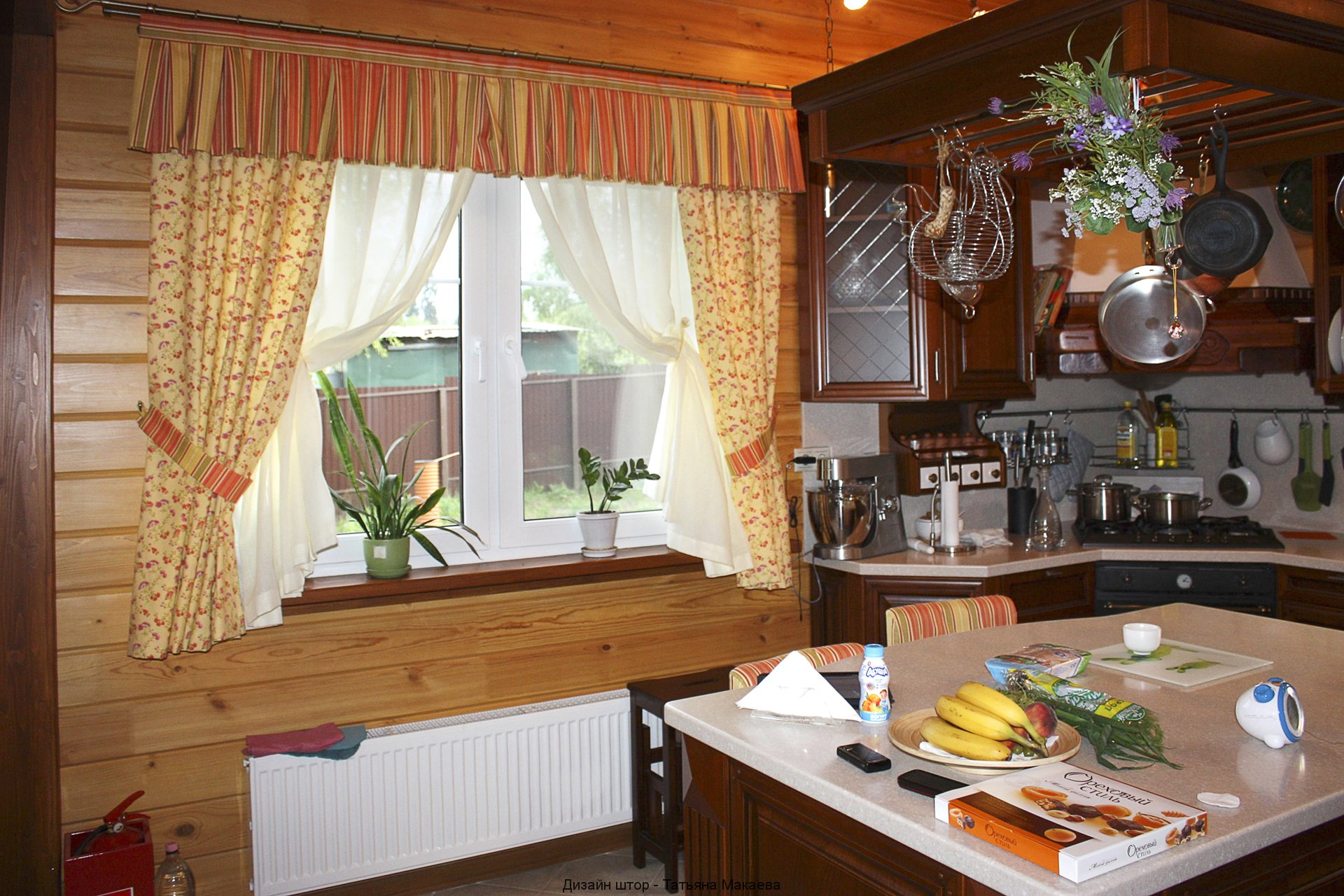 Дизайн оформления окна на кухню