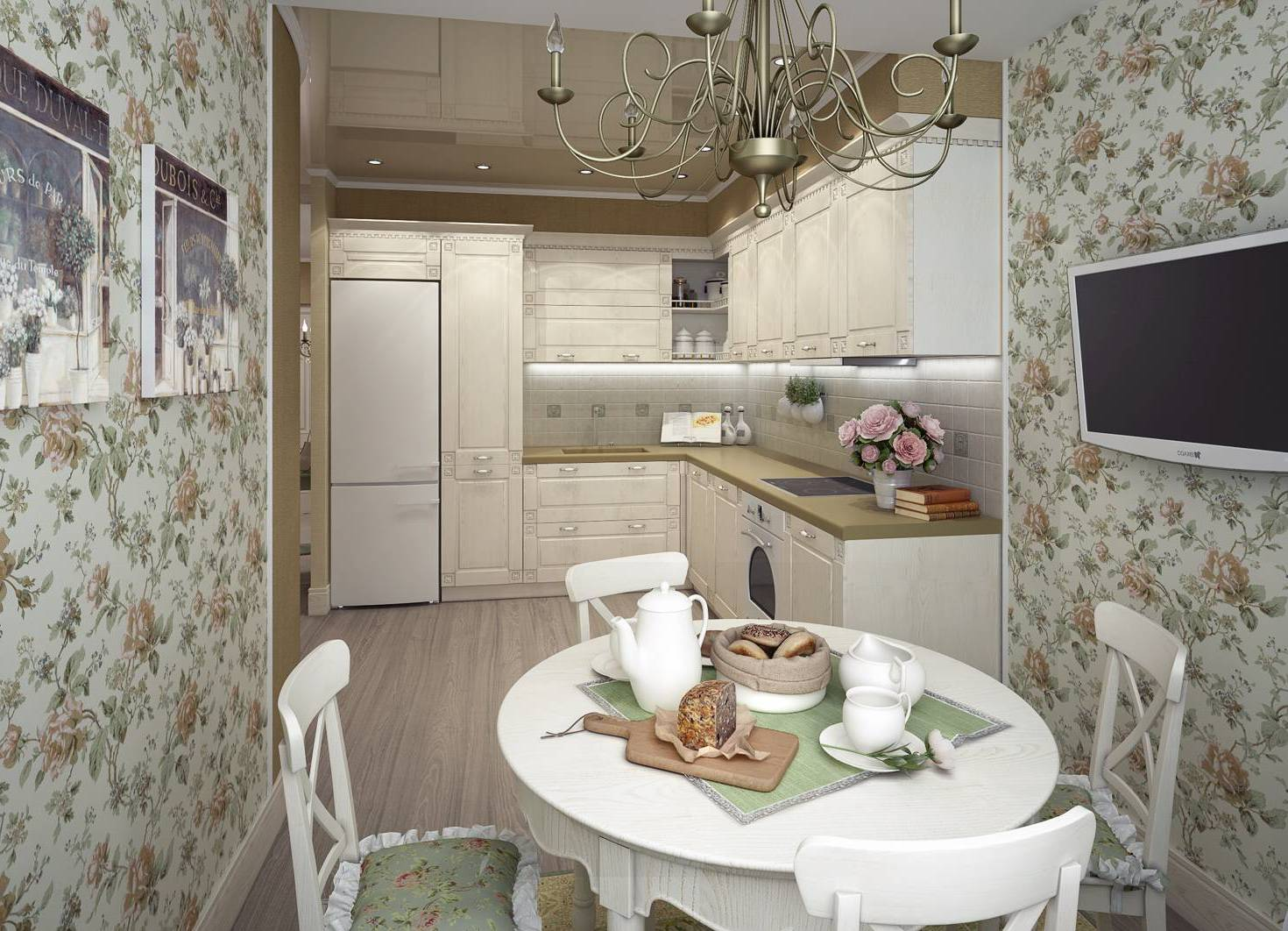 Дизайн обоев для кухни фото 2016