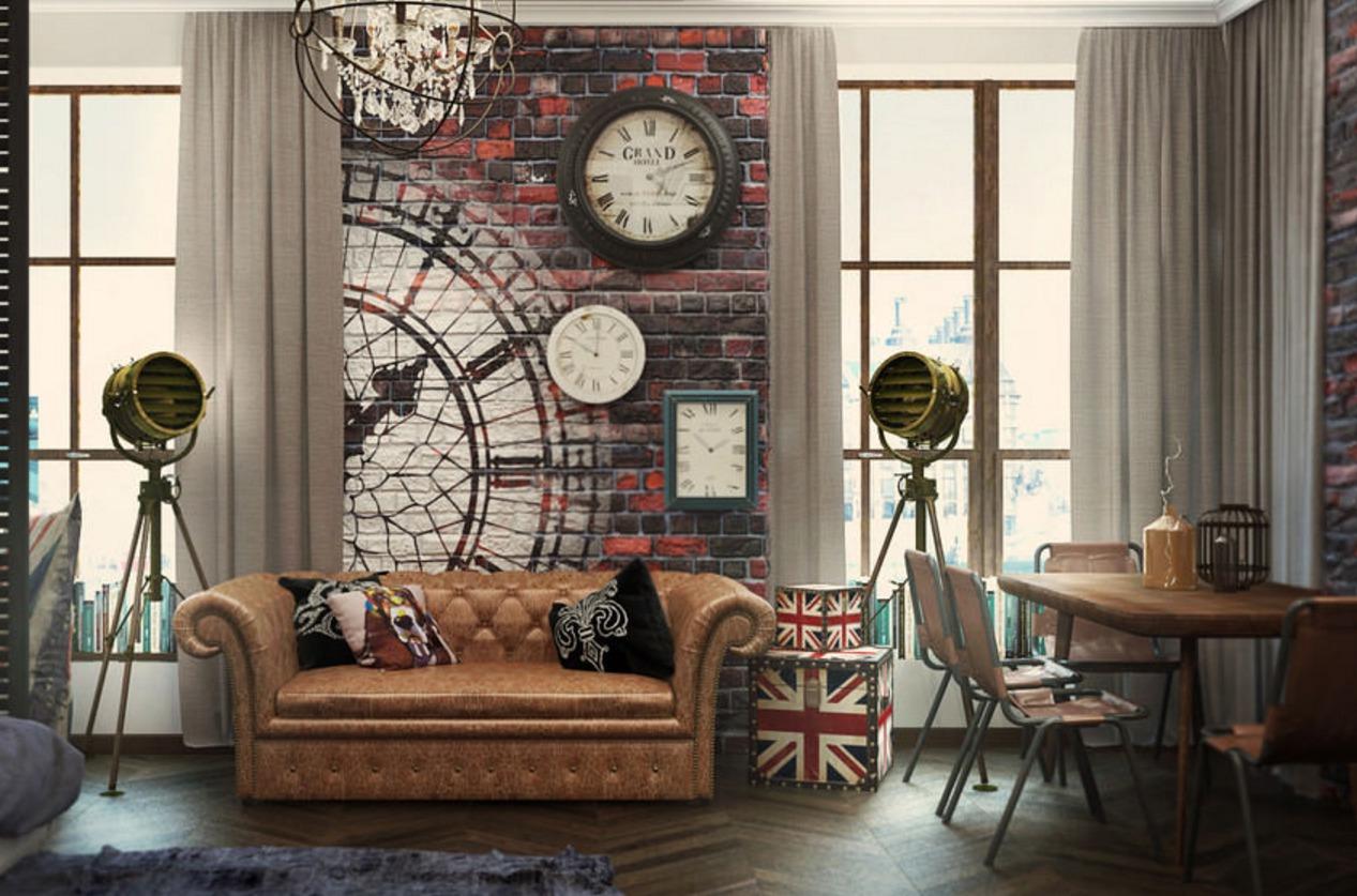 Интерьер в лондонском стиле фото