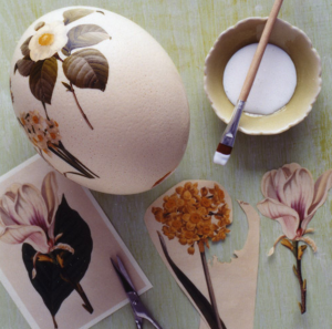 Необходимые материалы для декупажа яиц