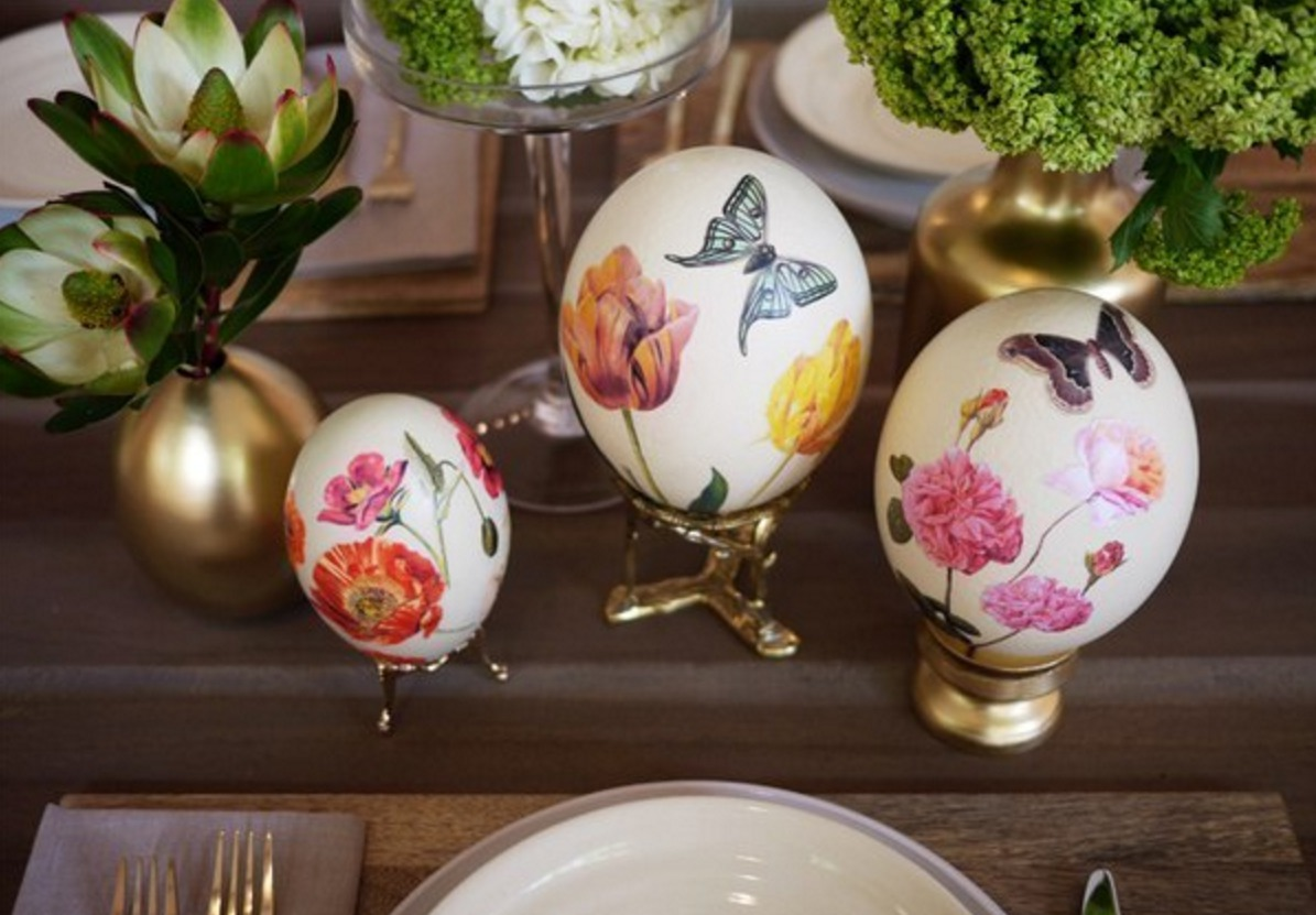 Пасха яйца своими руками декупаж