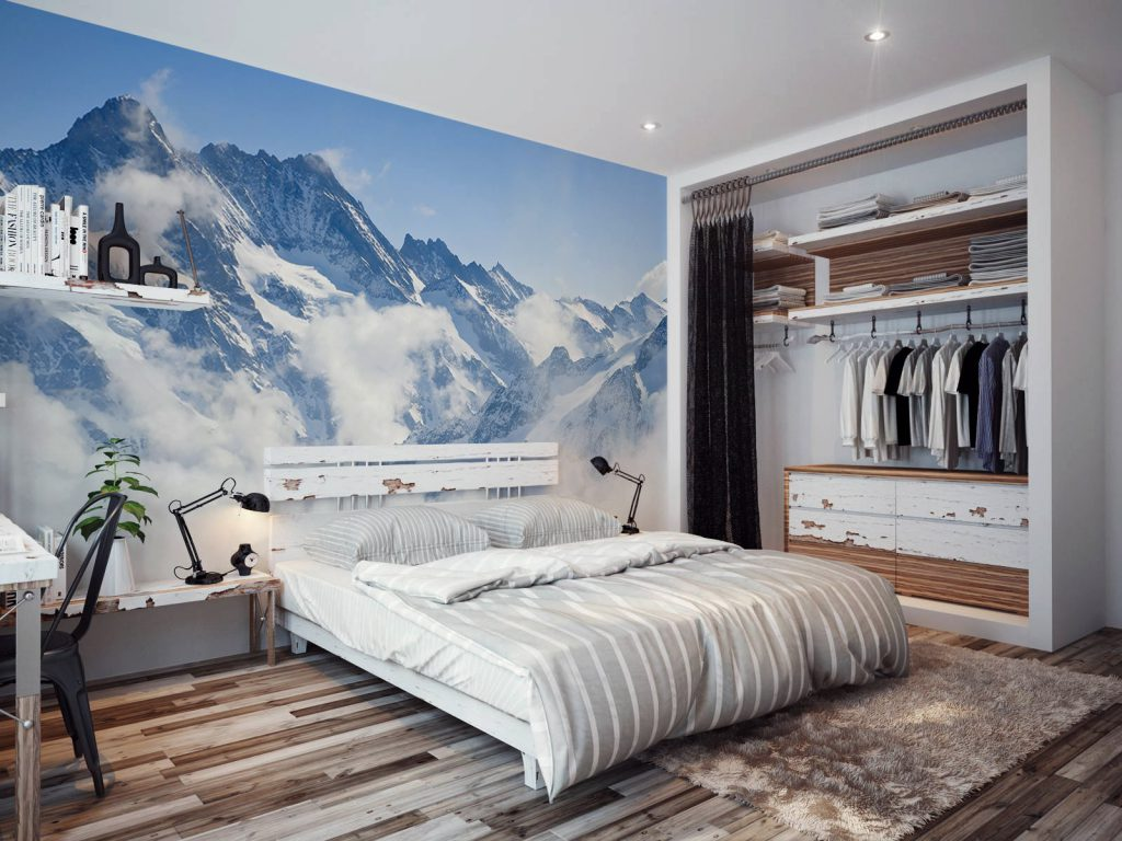 Дизайн стен в спальне