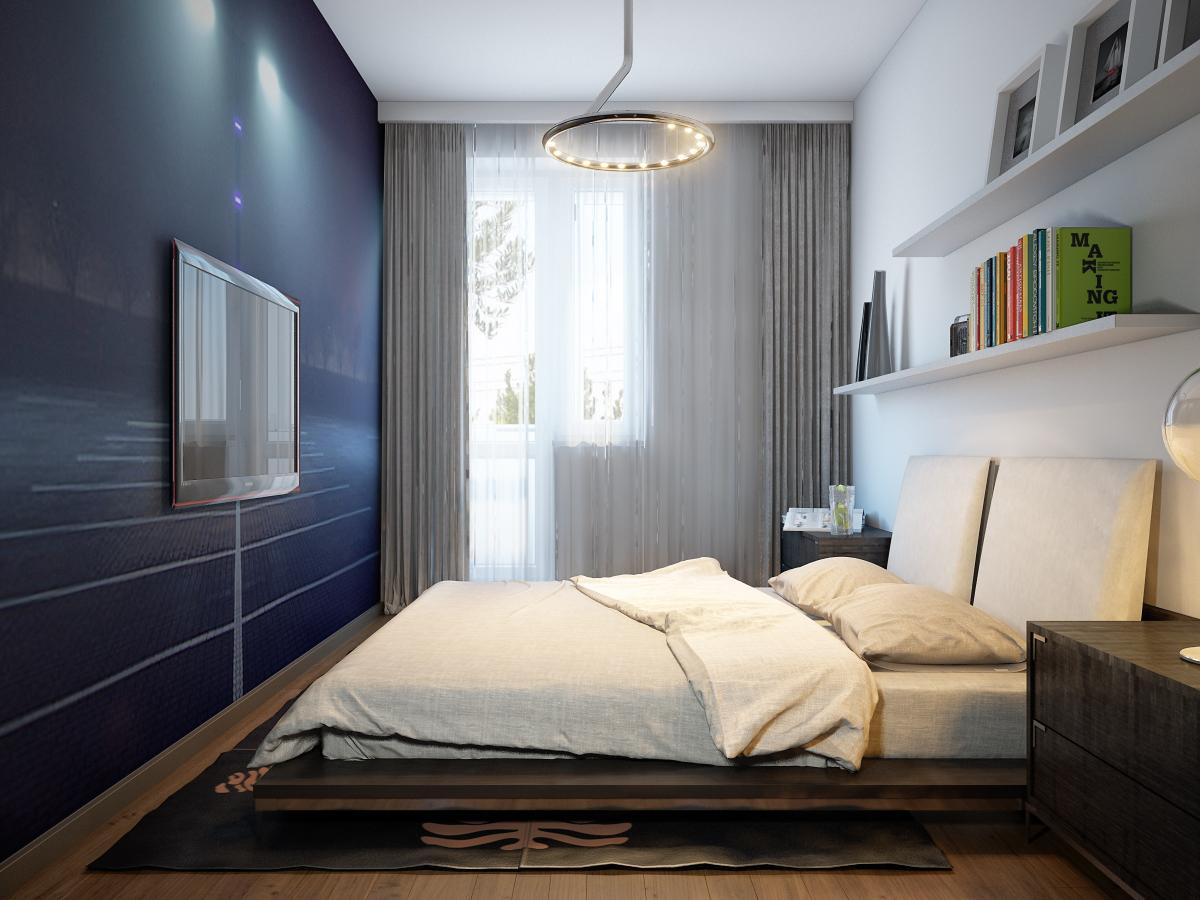 Фото дизайна узкой комнаты 18 кв.м