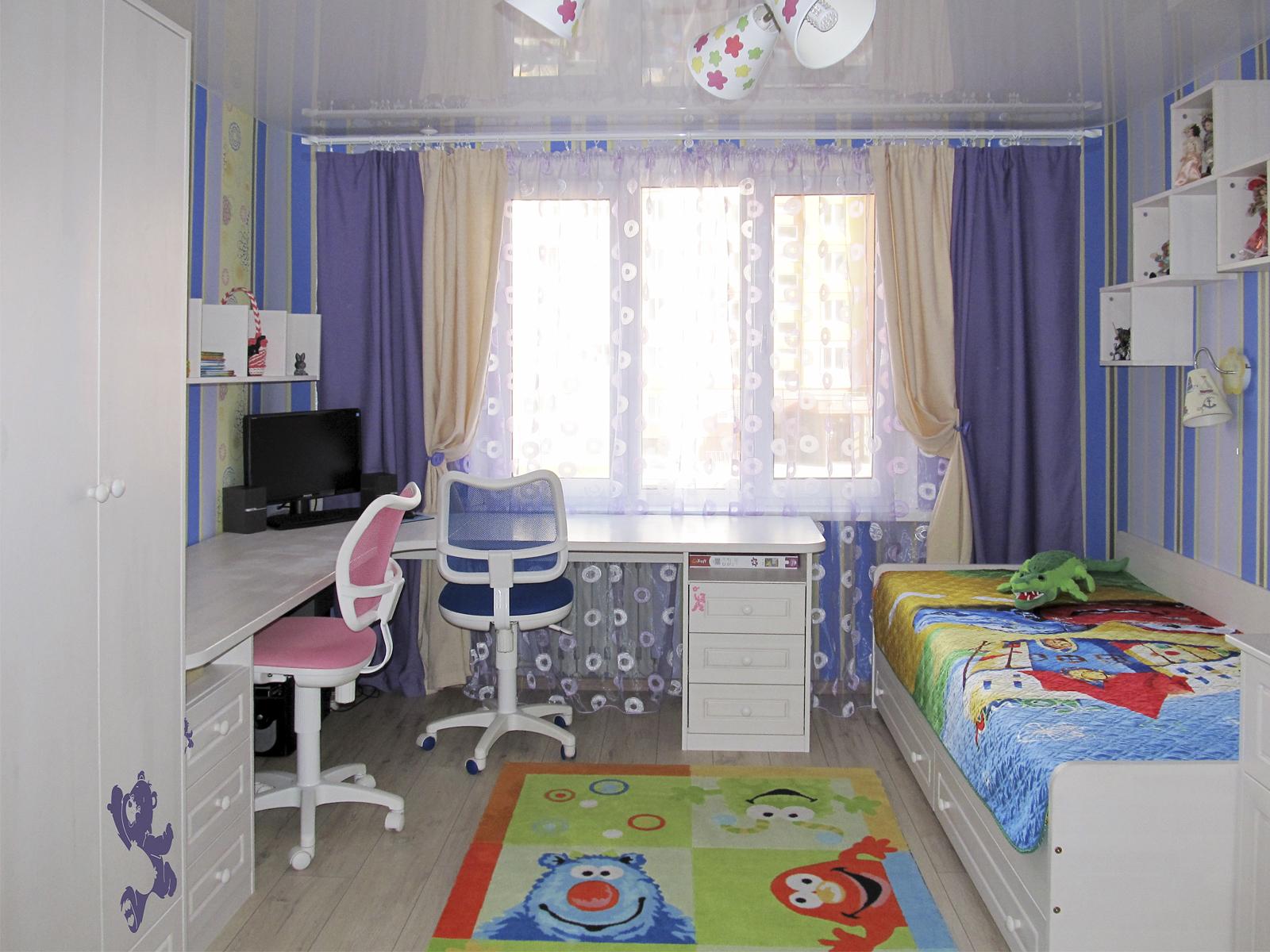 Детская комната для двоих детей фото 12 м