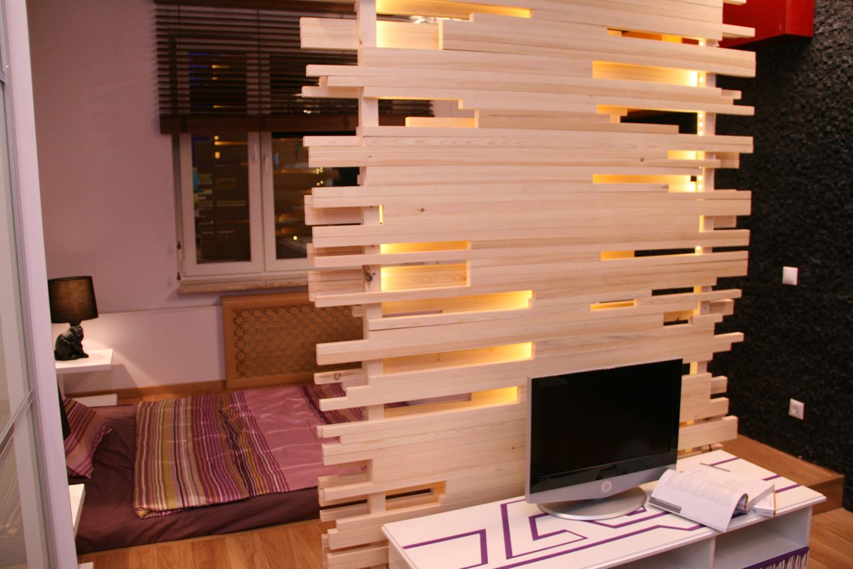Как самому сделать перегородку из дерева
