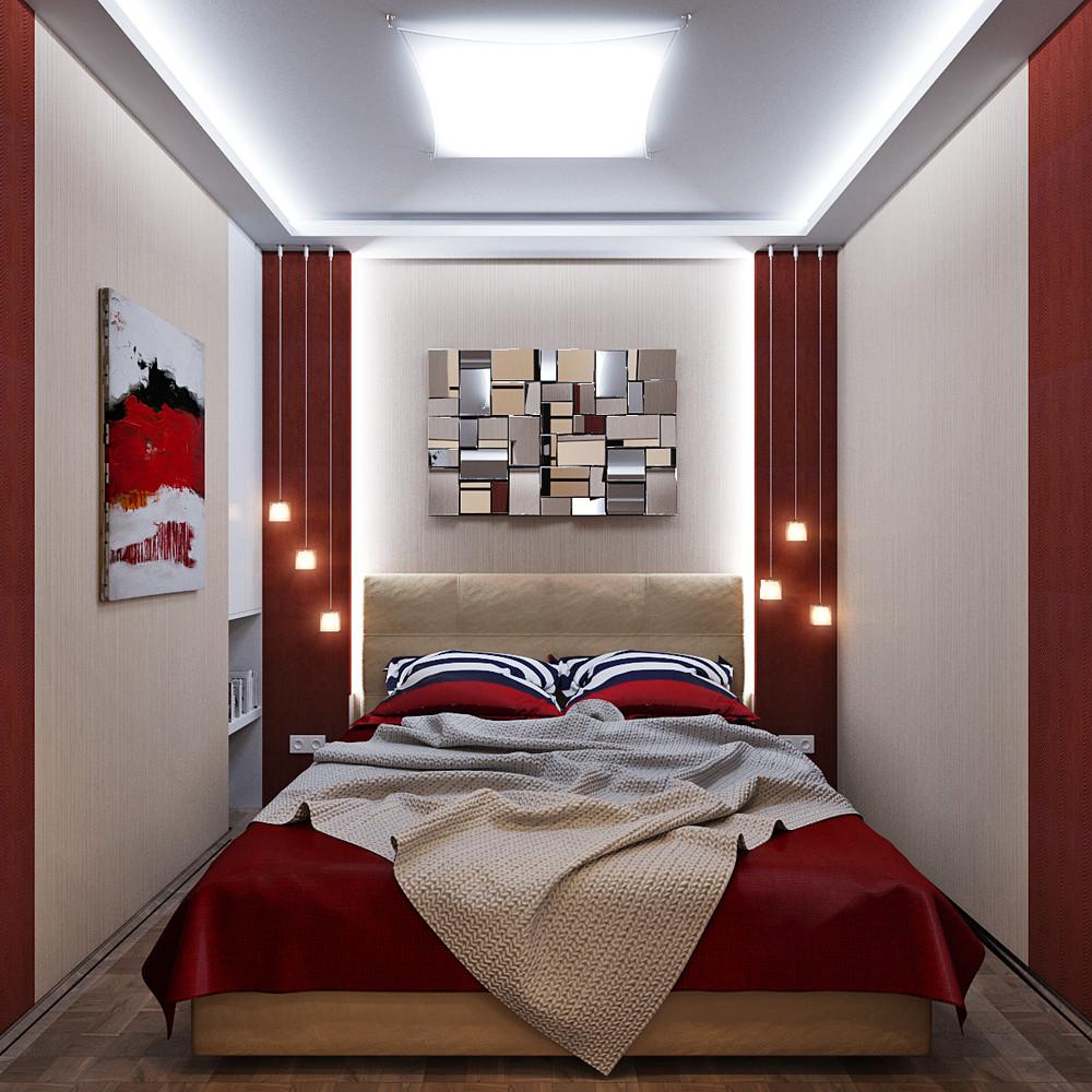 Спальня 4 кв м дизайн фото