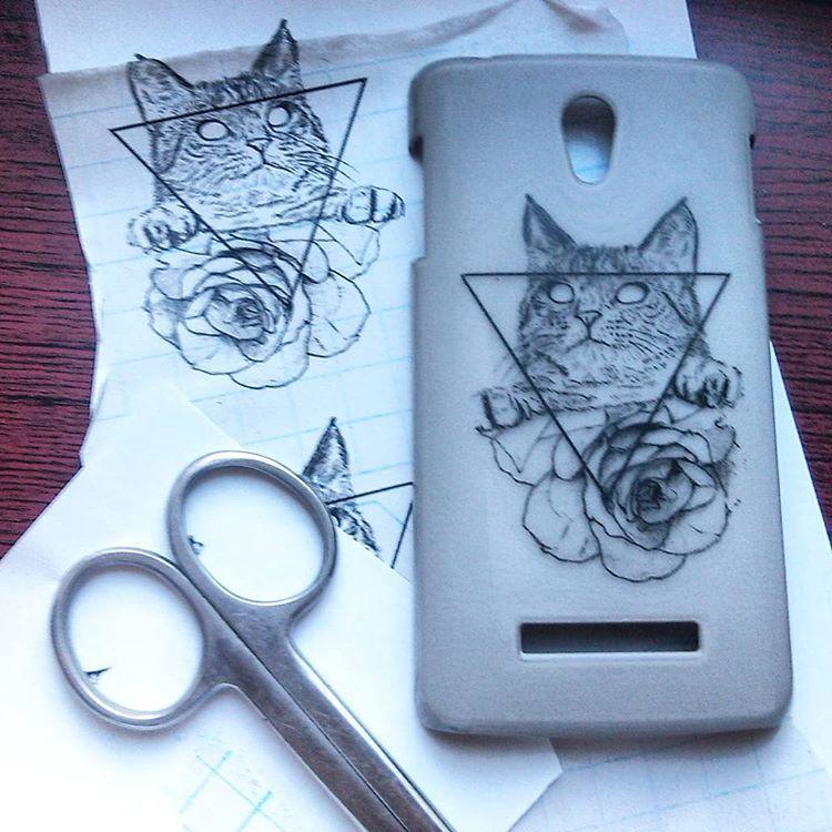 Рисунок на телефон своими руками 48