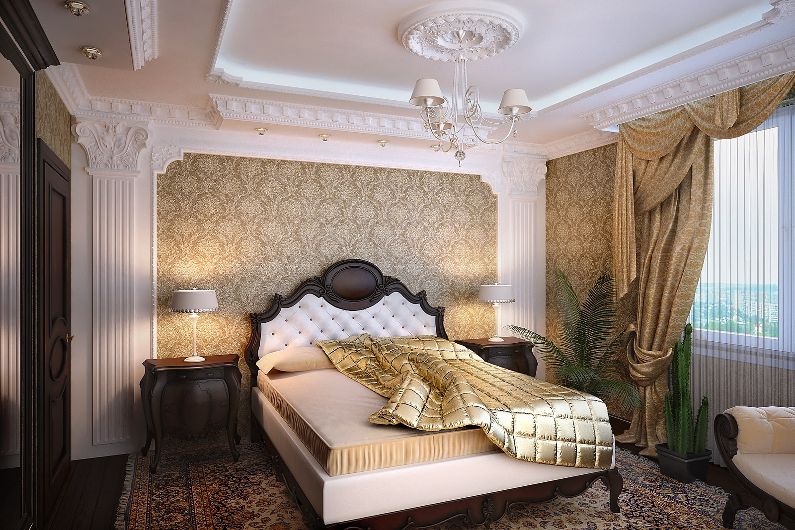 Спальня классика дизайн