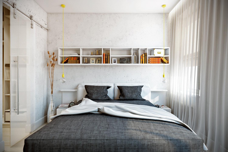 Фото дизайна спальни 9 квадратов