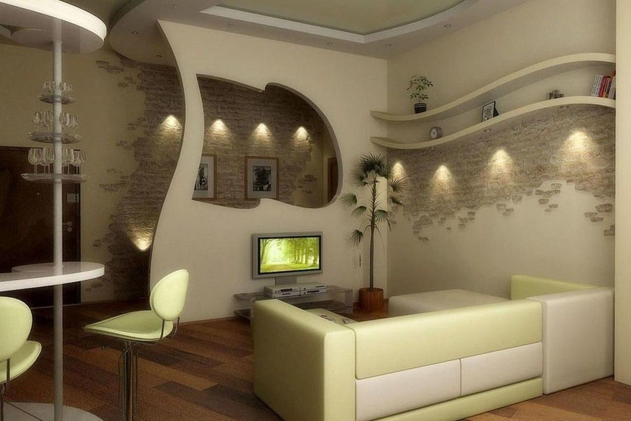 Дизайн гостиной совмещенной с балконом в хрущевке. - ставим .